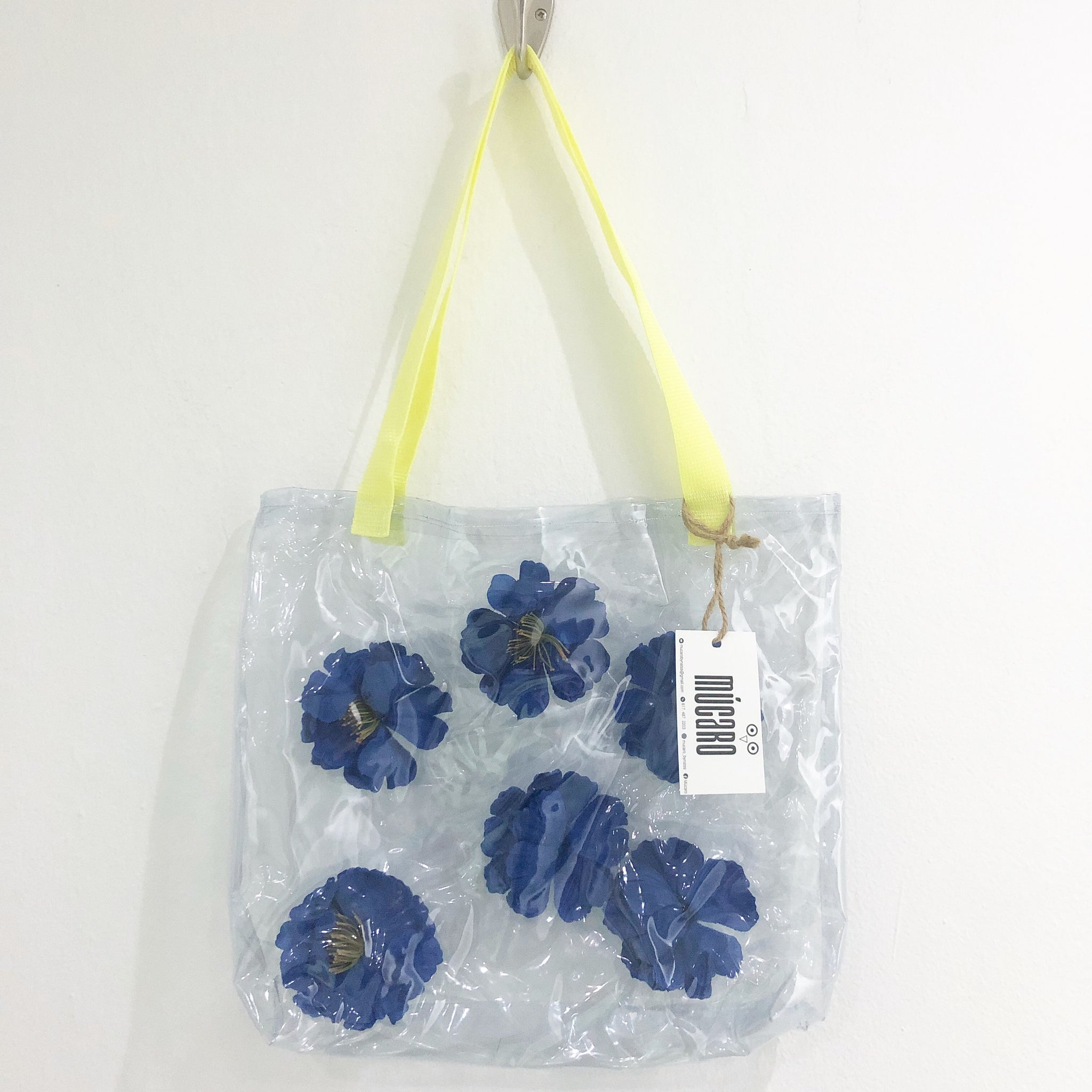 Blue flowers bag