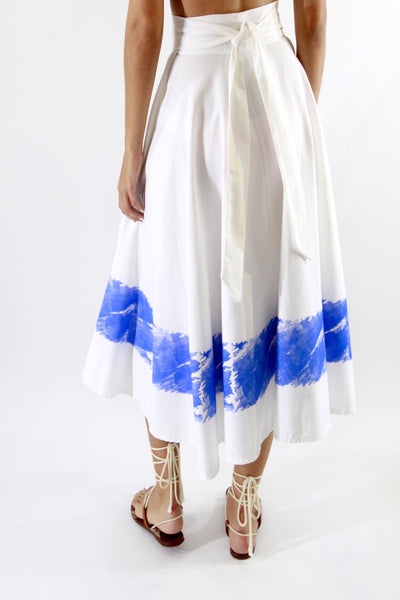 Azure wrap skirt
