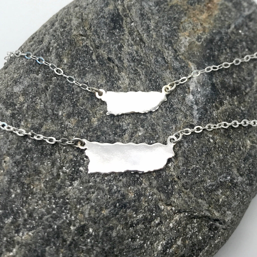 Puerto Rico Necklace unisex sterling silver