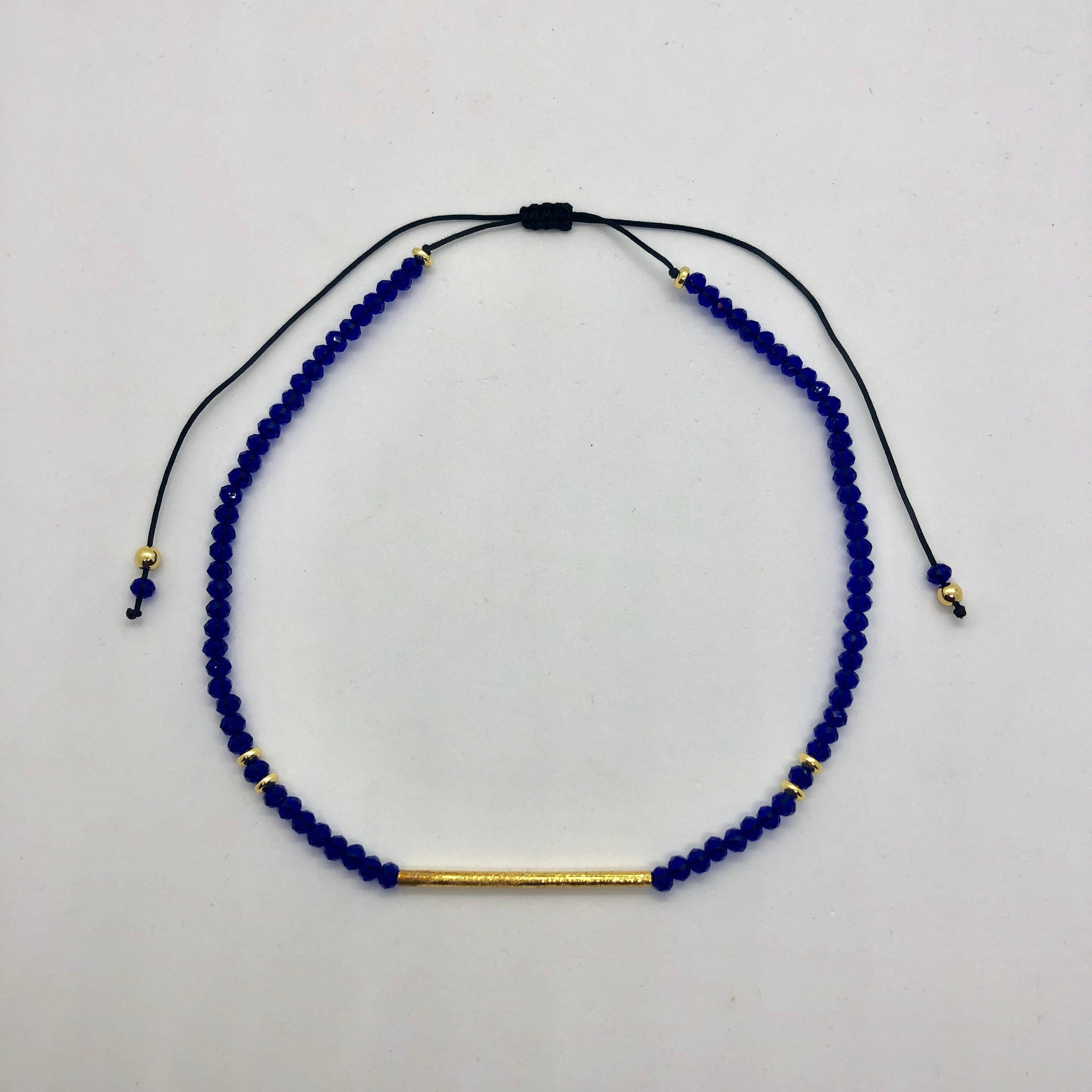 Blue adjustable choker