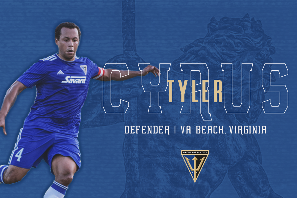 Virginia Beach City FC Announces TJ Cyrus as the Club's First Professional Signing