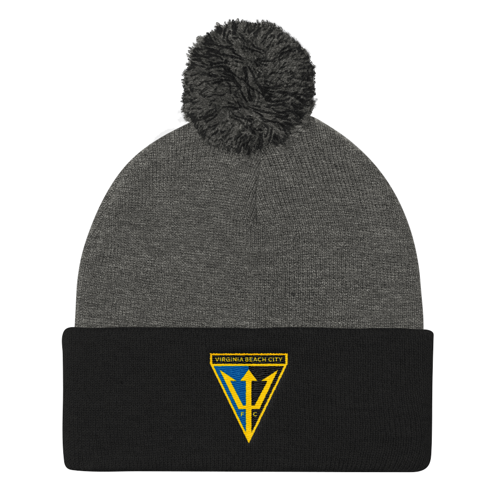 Virginia Beach City FC Cuffed Knit Hat with Pom