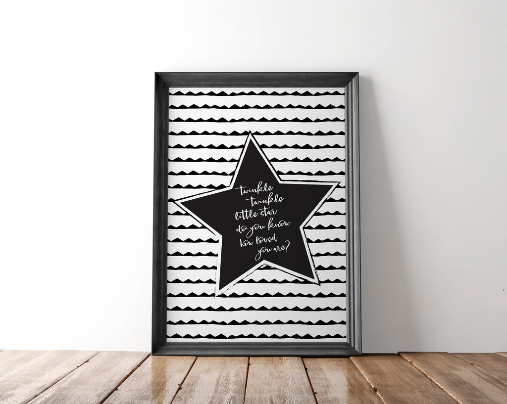 Twinkle Twinkle Little Star Nursery Wall Art Printable - Blu Nest Bloom