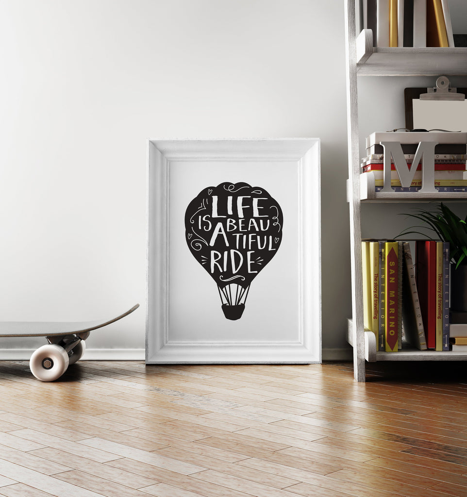 Life Is A Beautiful Ride Wall Art Printable - Blu Nest Bloom