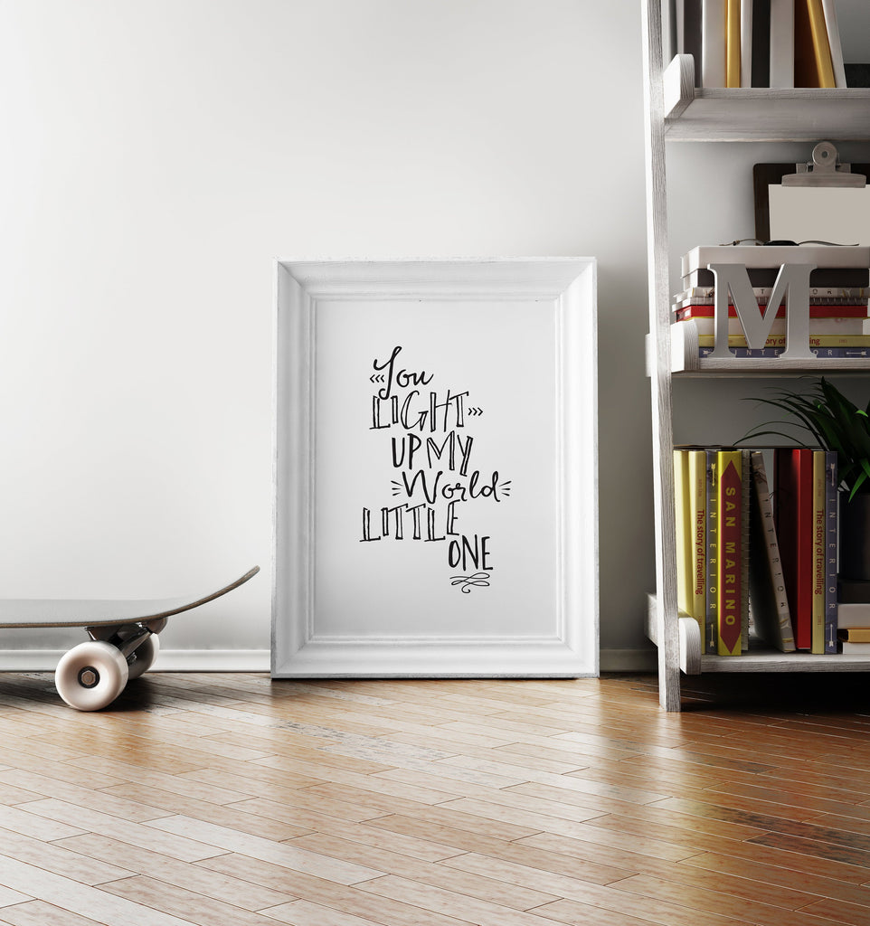 You Light Up My World Wall Art Printable - Blu Nest Bloom