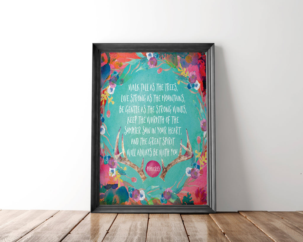Walk Tall With The Trees Wall Art Printable - Blu Nest Bloom