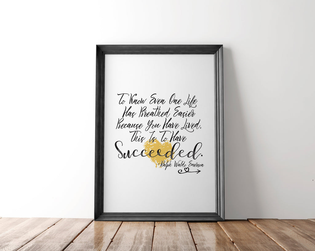 Emerson Quote Wall Art Printable - Blu Nest Bloom
