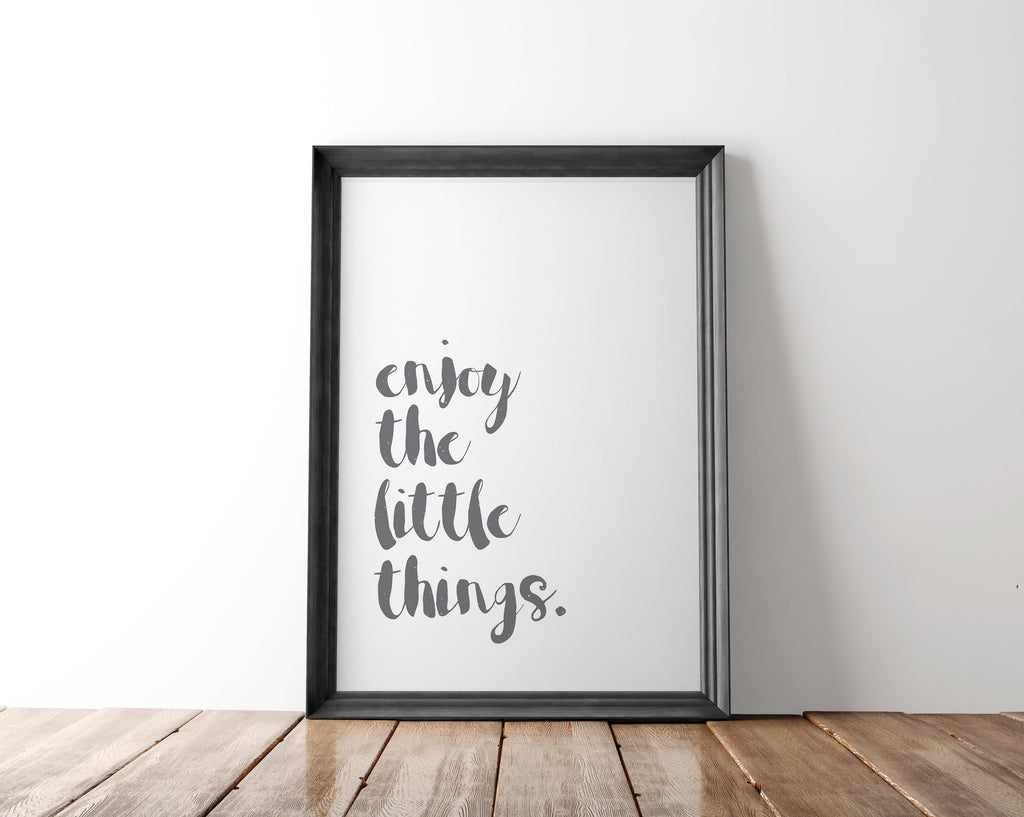 Enjoy The Little Things Wall Art Printable - Blu Nest Bloom