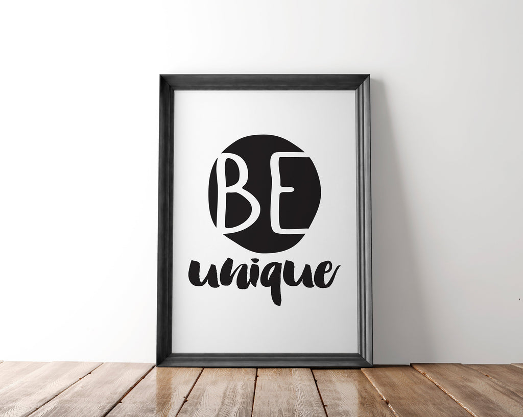 Be Unique Wall Art Printable - Blu Nest Bloom