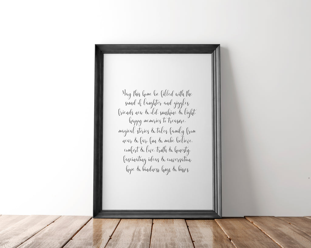 Family Quote Wall Art Printable - Blu Nest Bloom