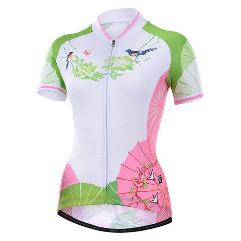 Cycling Box Butterfly Rain Ladies Jersey - Cycling Savings