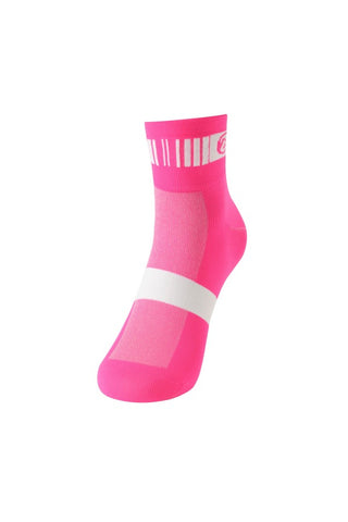 Monton Neon Pink Cycling Socks - Cycling Savings