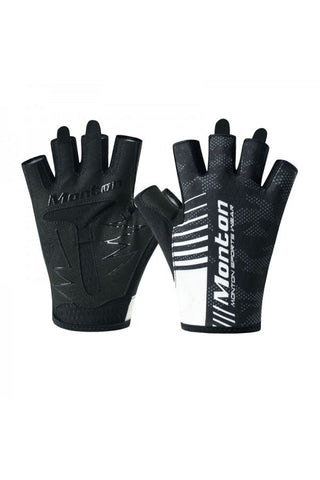 Monton Pro Black and White gloves - Cycling Savings