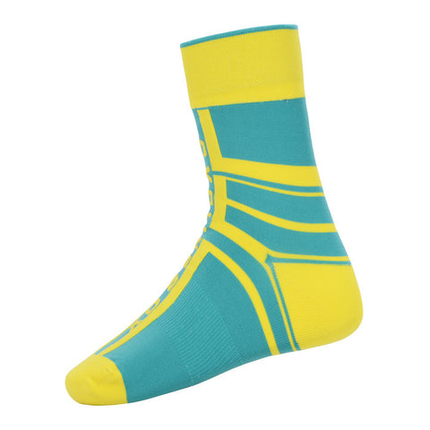 Cycling Box Protector Yellow Green Socks - Cycling Savings