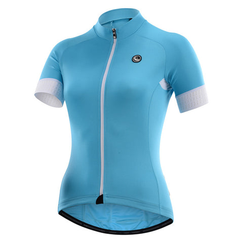 Cycling Box Claire Turquoise Blue Ladies Jersey - Cycling Savings