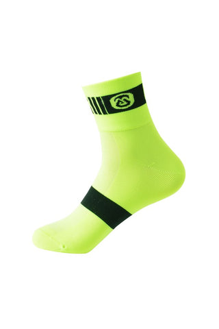 Monton Neon Yellow Cycling Socks - Cycling Savings