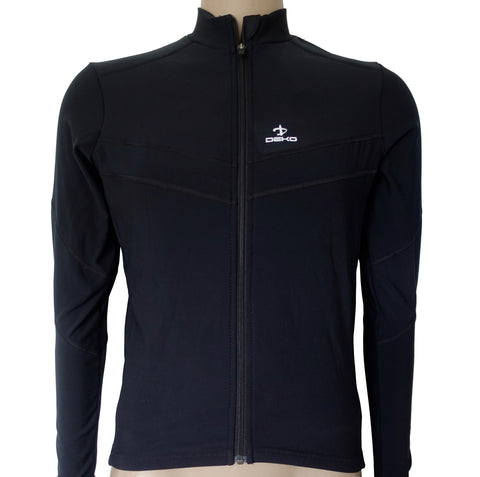 Deko Leader Winter Jersey Black - Cycling Savings