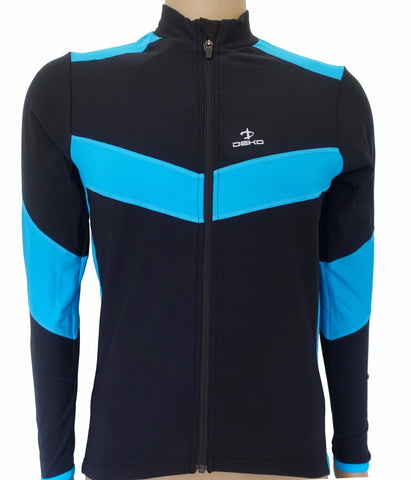 Deko Leader Winter Jersey Blue and Black - Cycling Savings