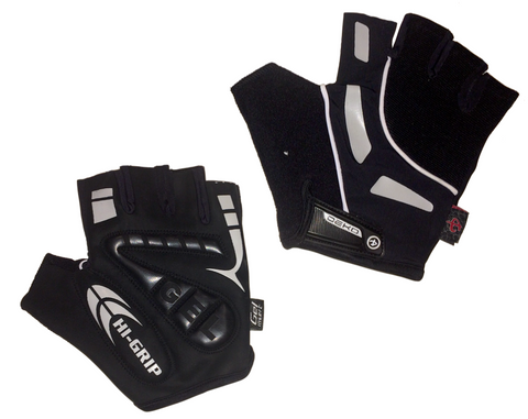Deko Gloves Hi-grip with Gel Padding Black - Cycling Savings