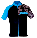 Deko Camo Blue and Black Jersey - Cycling Savings