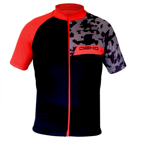 Deko Camo Red and Black Jersey - Cycling Savings