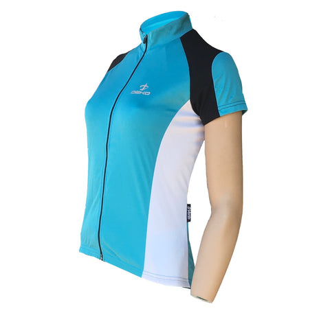 Deko Carme Blue and White Ladies Jersey - Cycling Savings