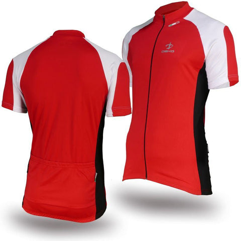 Deko Phobos Red and White Jersey - Cycling Savings