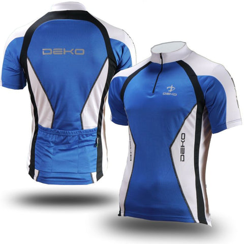 Deko Tethys Air Blue and White Jersey - Cycling Savings