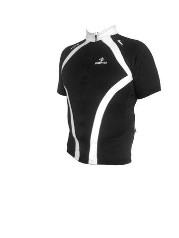 Deko Maya Black and White Jersey - Cycling Savings