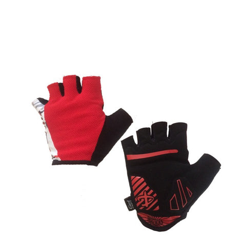 Deko Gloves Red and White - Cycling Savings