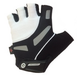 Deko Gloves Hi-grip with Gel Padding Black and White - Cycling Savings