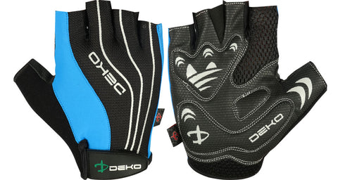 Deko Gloves Black and Blue with Gel Padding - Cycling Savings