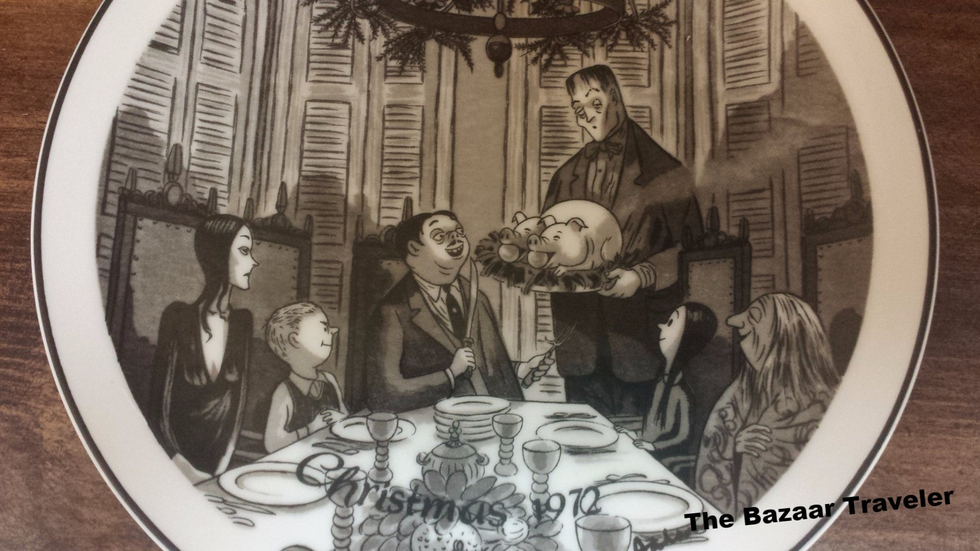 The Addams Family Vintage Collectible 1972 Christmas Plate