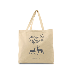 Joy To The World Canvas Tote