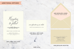 Adornment Collection - Customizable Wedding Invitation Set