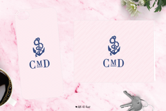 anchor monogram - pink collection