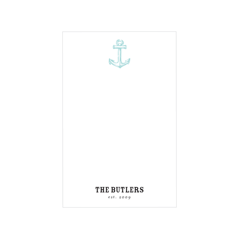 family anchor notepad
