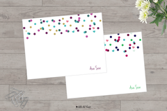 confetti stationery