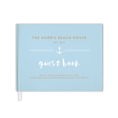 beachhouse guestbook keepsake book