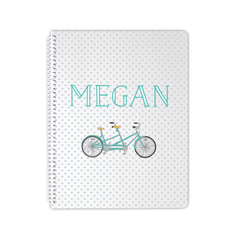 polkadot bicycle notebook