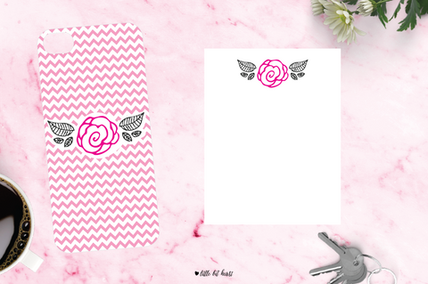 chevron bloom - pink collection