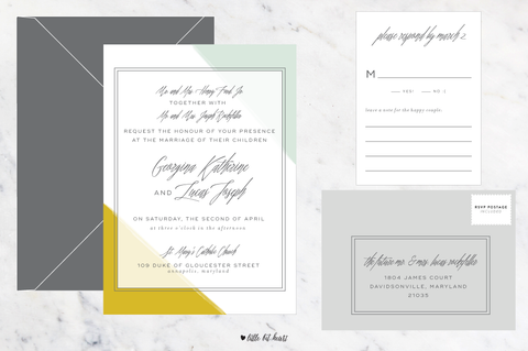 Colordipped - Customizable Wedding Invitation Set