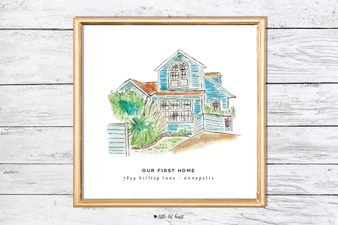 custom home art print
