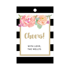 Floral Wine Tags
