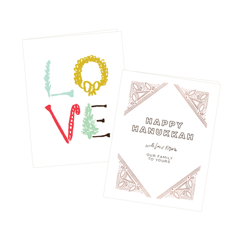 folded holiday cards - sets of 15
