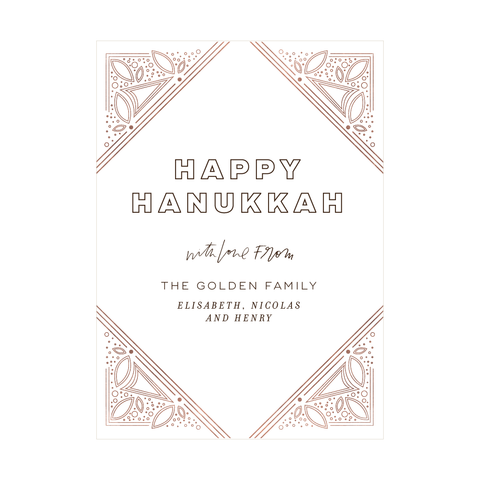Gilded Art Deco Holiday Card