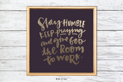 give god the room to work art print