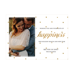 Glitter Happiness Holiday Photo Card