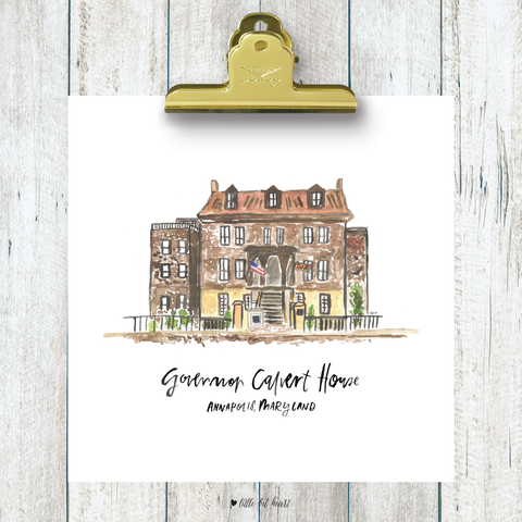 governor calvert house art print