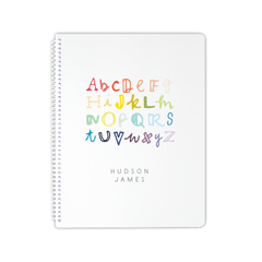 handlettered ABCs notebook